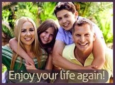 Happy family after overcoming depression- Depression Test